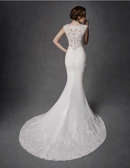 Phoenix sheath wedding dress back Signature