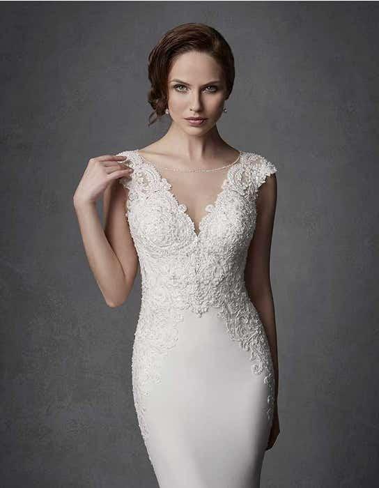 Phoenix sheath wedding dress crop front Signature