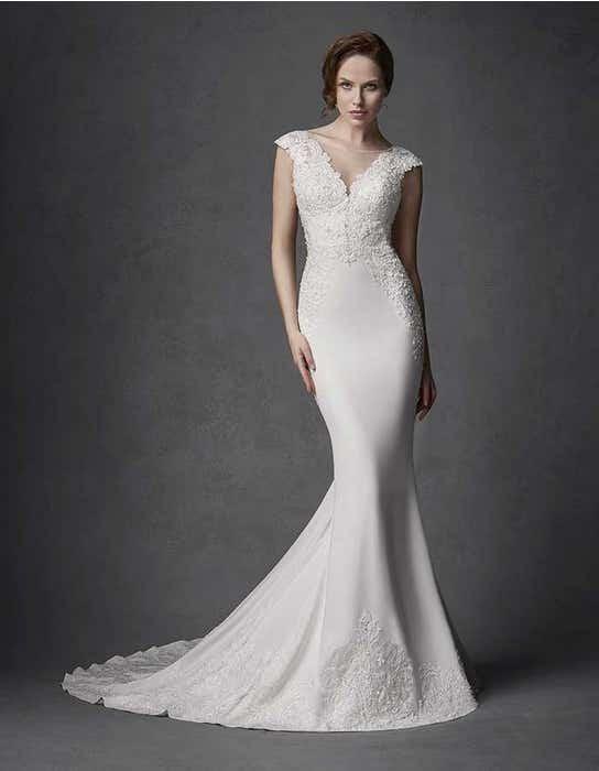 Phoenix sheath wedding dress front Signature