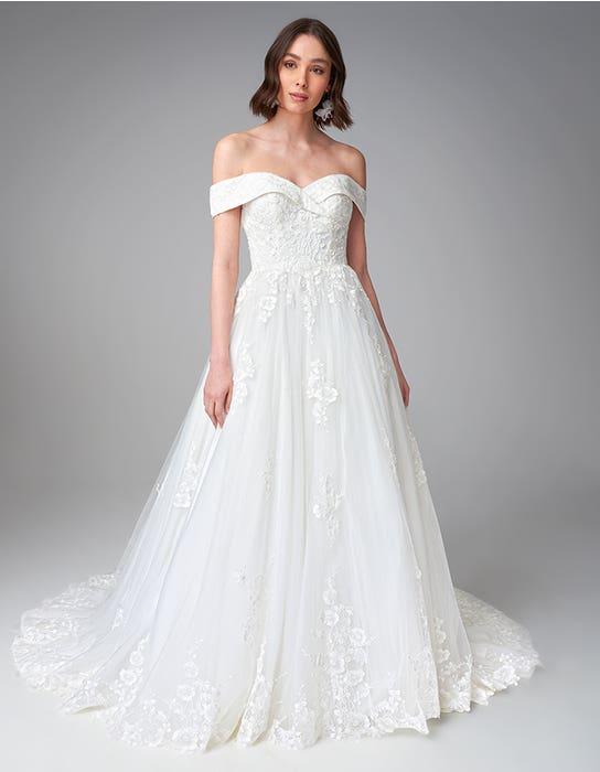Pierette ballgown wedding dress front Anna Sorrano