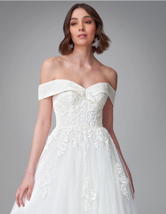 Pierette ballgown wedding dress front crop Anna Sorrano