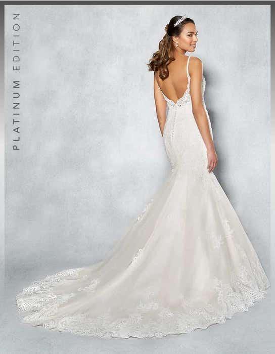 Piper fishtail wedding dress back Viva Bride