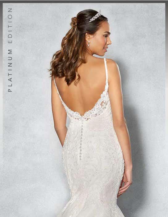 Piper fishtail wedding dress back crop Viva Bride
