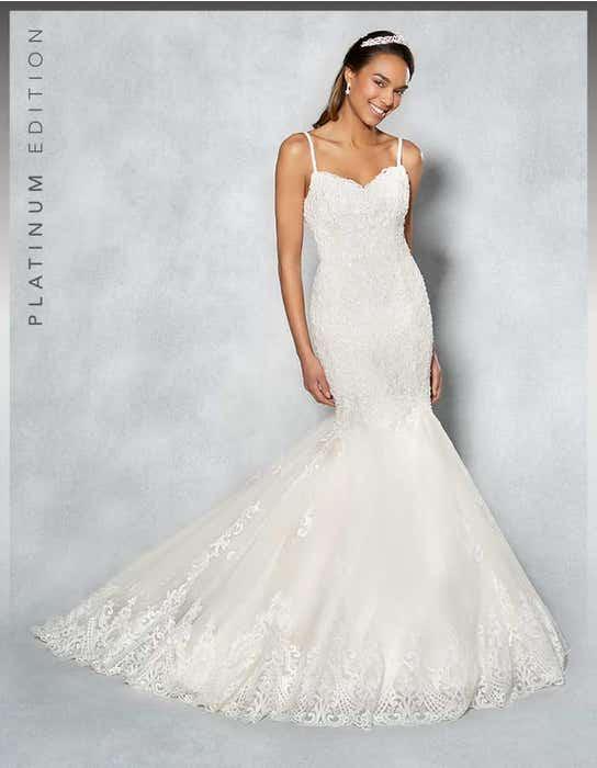 Piper fishtail wedding dress front Viva Bride