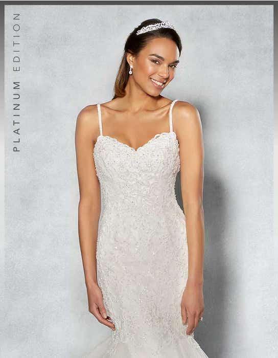 Piper fishtail wedding dress front crop Viva Bride