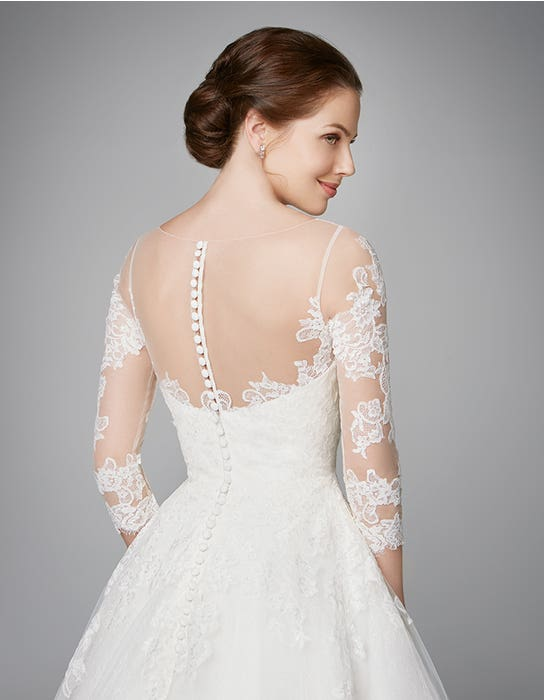 Pippa aline wedding dress crop back Anna Sorrano