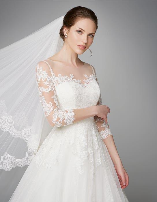 Pippa aline wedding dress crop front Anna Sorrano
