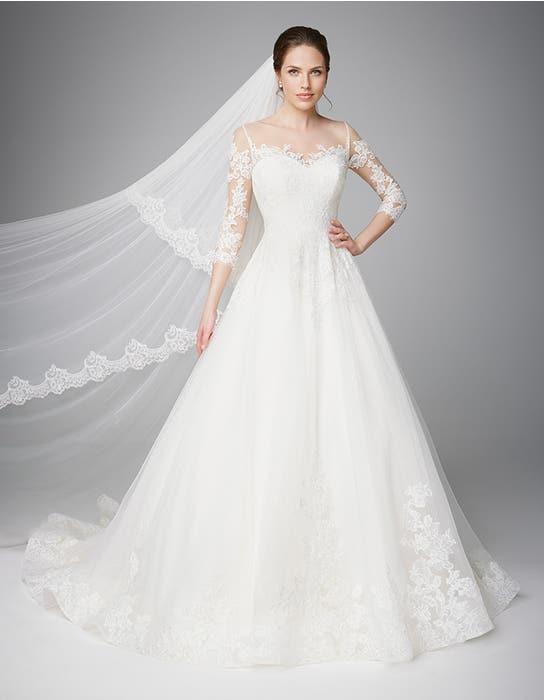 Pippa aline wedding dress front Anna Sorrano