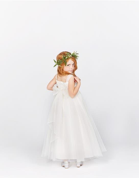Poppy ivory flower girl dress back Infinite