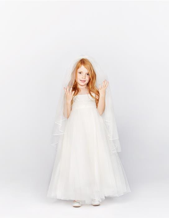 Poppy ivory flower girl dress front Infinite