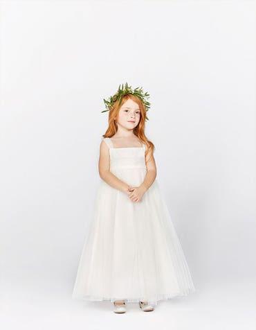 Poppy ivory flower girl dress front Infinite th