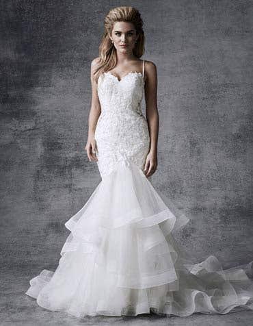 Raine fishtail wedding dress front Signature th