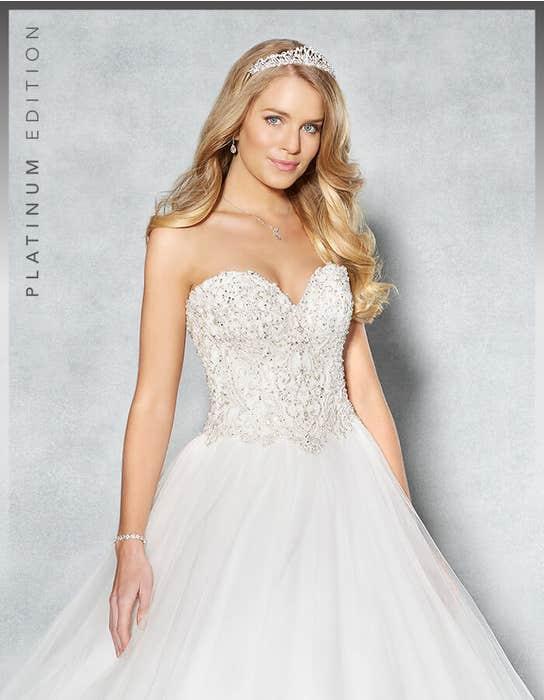 Ramona ballgown wedding dress crop front Viva Bride