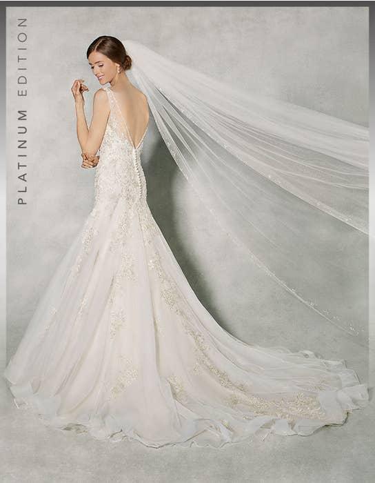 Raphaela fit _ flare wedding dress back Anna Sorrano