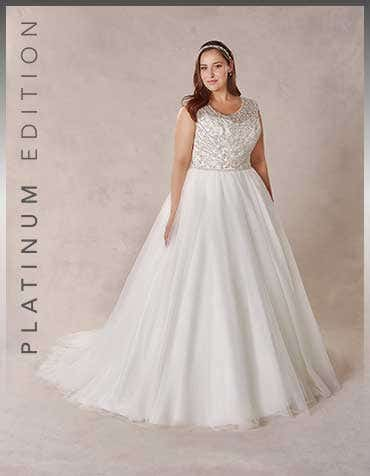 Regan ballgown wedding dress front Bellami th