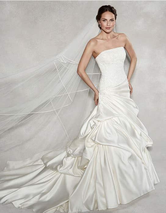 RENATA - Satijnen jurk met verlaagde taille | WED2B
