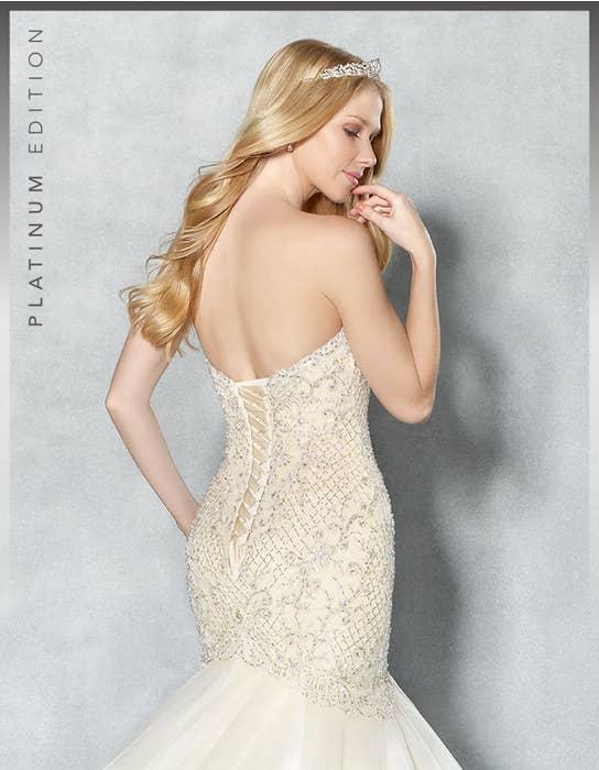 Rhianna fishtail wedding dress crop back Viva Bride