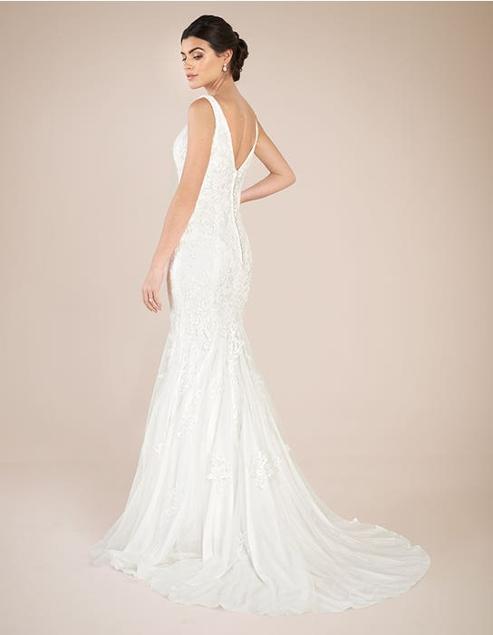 Richmond sheath wedding dress back Anna Sorrano