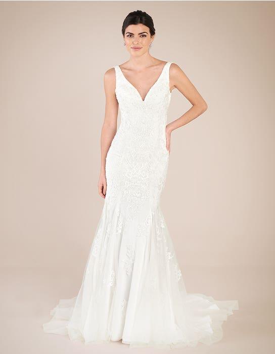 Richmond sheath wedding dress front Anna Sorrano