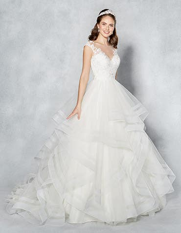 Rochelle ballgown wedding dress front Viva Bride th
