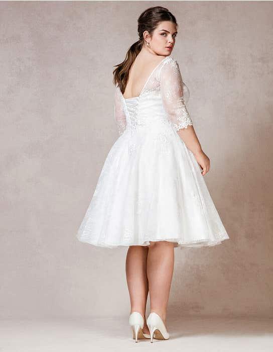 Rosabel short wedding dress back Bellami