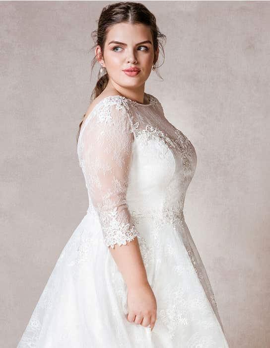 Rosabel short wedding dress back crop Bellami