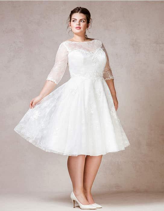 Rosabel short wedding dress front Bellami