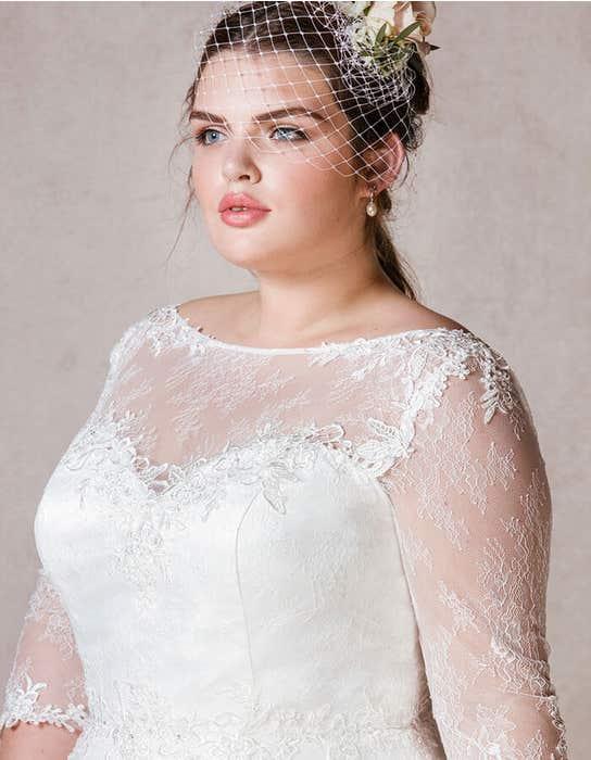 Rosabel short wedding dress front crop Bellami