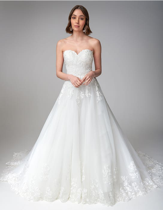 Rosalee Aline wedding dress front Anna Sorrano