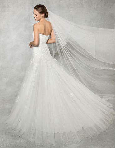 Rosalie fit _ flare wedding dress back Anna Sorrano