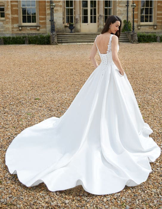 Rosana - a rose inspired mikado gown with pockets | WED2B