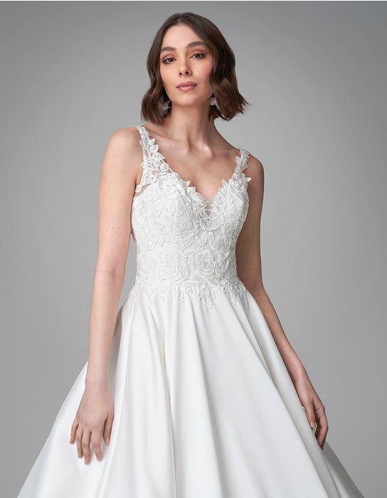 Rosana ballgown wedding dress front crop Anna Sorrano