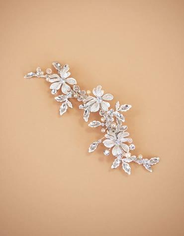 SAFIA - a floral and crystal encrusted hair clip