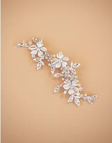 SAFIA - een met bloemen en kristallen bezette haarspeld