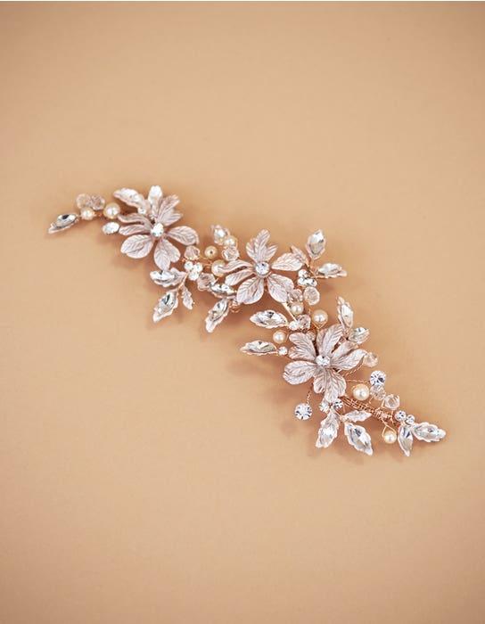 Safia rose gold bridal hair accessory Amixi