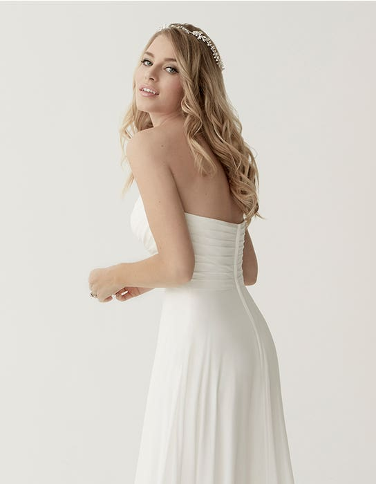 Sara aline wedding dress crop back Heidi Hudson