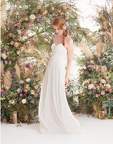 SARA - een zachte chiffon boho jurk met plooien