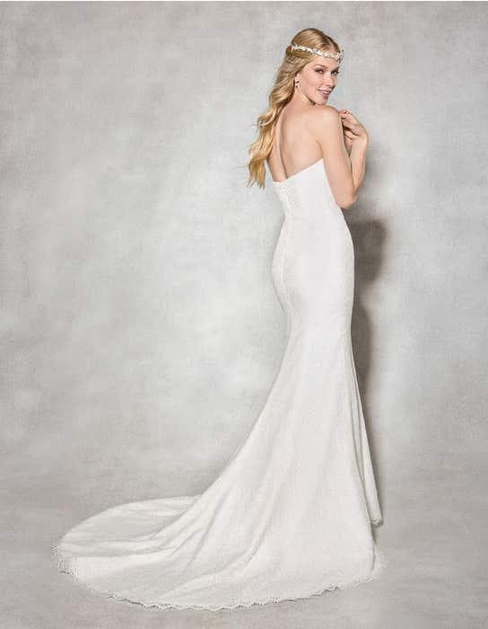 Savanna fishtail wedding dress back Heidi Hudson