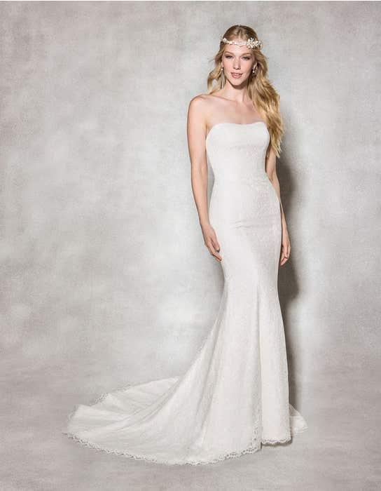 Savanna fishtail wedding dress front Heidi Hudson