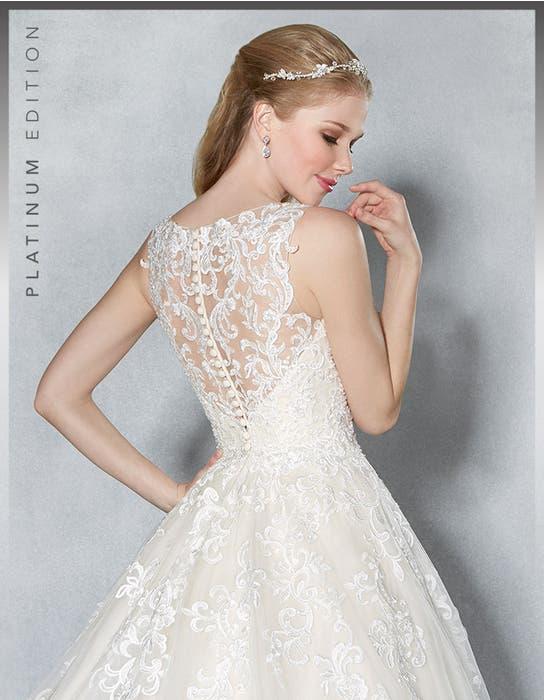 Scarlet aline wedding dress back crop Viva Bride