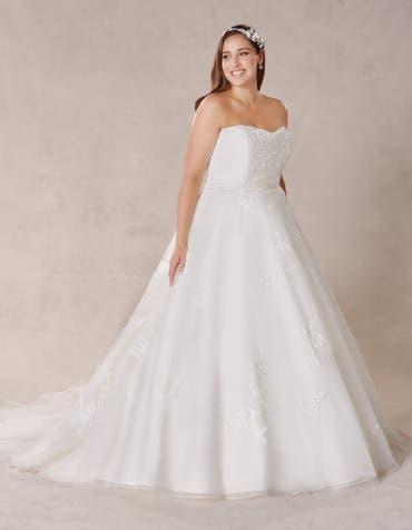 SERENA - Een prachtige strapless a-lijn jurk