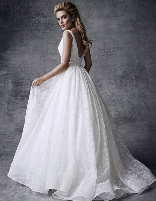 Sia ballgown wedding dress back Signature