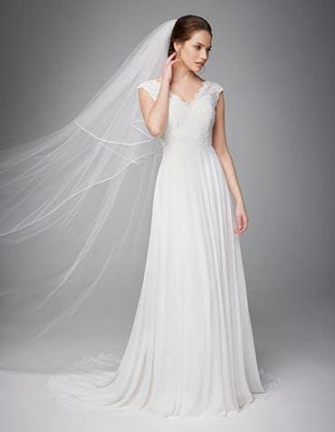 Sicily aline wedding dress front Anna Sorrano th