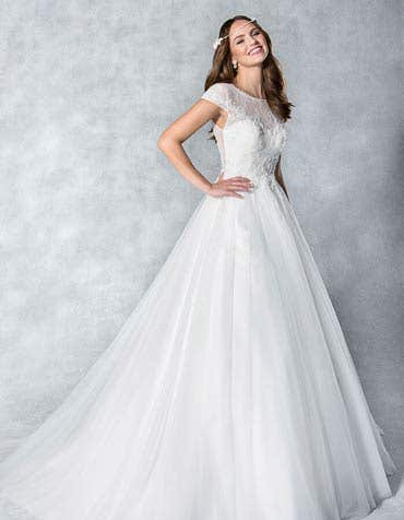 Sienna ballgown wedding dress front Viva Bride th