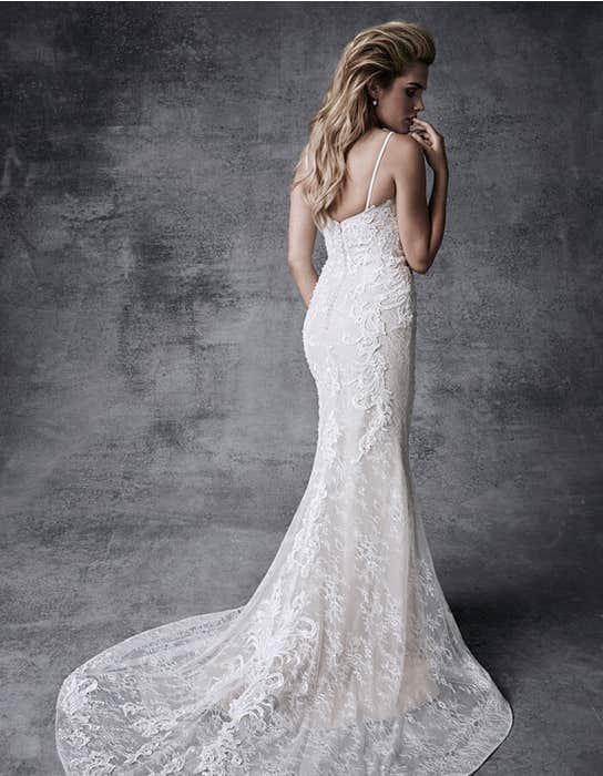 Skyla fishtail wedding dress back Signature