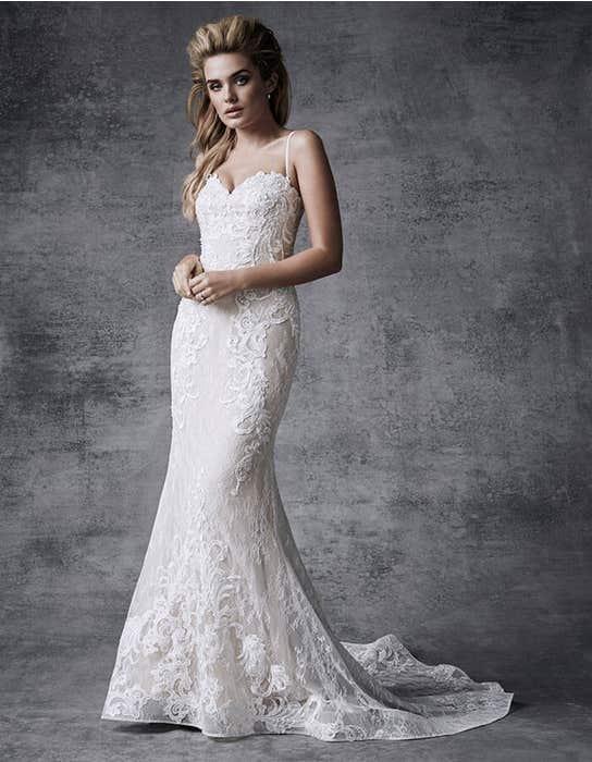 Skyla fishtail wedding dress front Signature