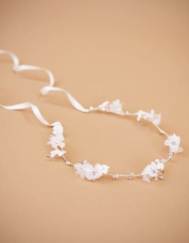 SOPHIE - a delicate halo with organza flowers