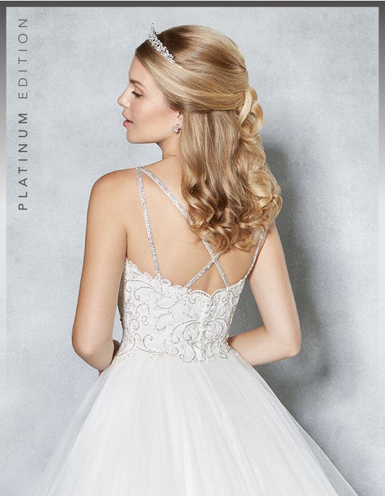 Sophiella ballgown wedding dress crop back Viva Bride