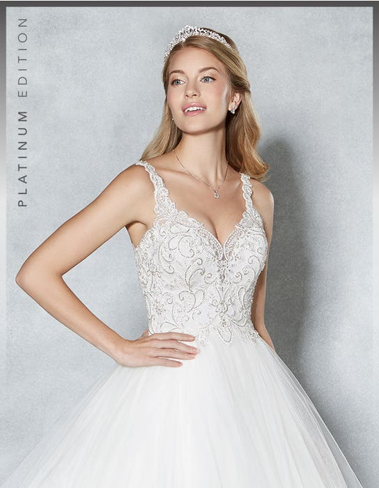 Sophiella ballgown wedding dress crop front Viva Bride
