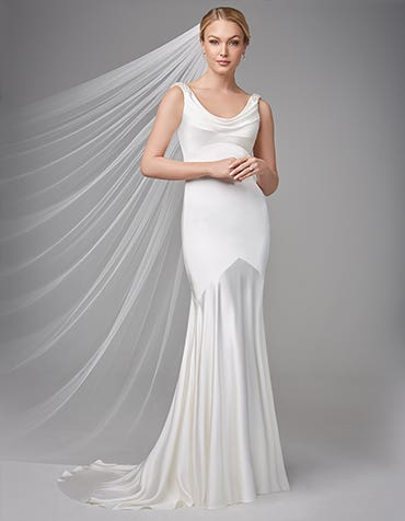 Sorcha Sheath Wedding dress front Anna Sorrano th